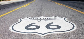 Kingman_Route 66 sign on road 2