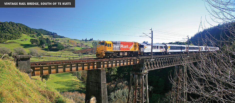 New Zealand Northern Explorer Vintage Rail Bridge South of Te Kuiti