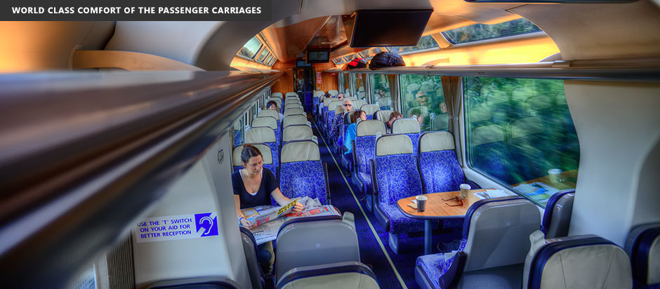New Zealand Northern Explorer World Class Comfort of the Passenger Carriages
