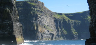 Cliffs from sea Level
