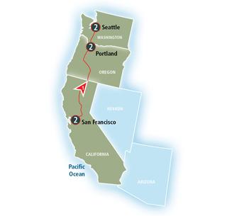 Pacific Northwest Map Image
