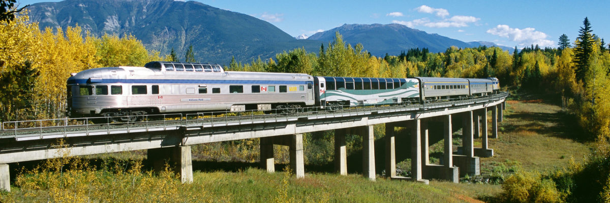 VIA Rail Train in Canada