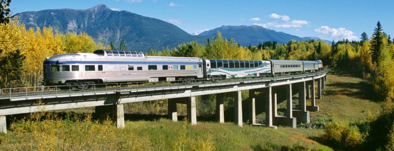 VIA Rail Train in Canada