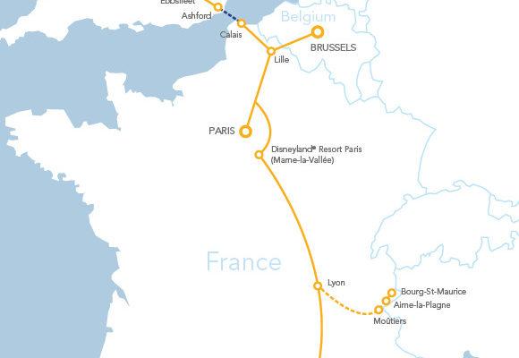 Eurostar route map